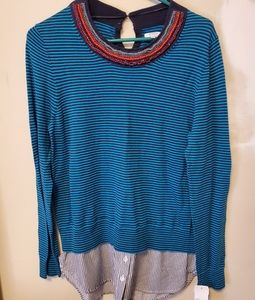 Nwt - 2 for top long sleeve with beaded detail Med